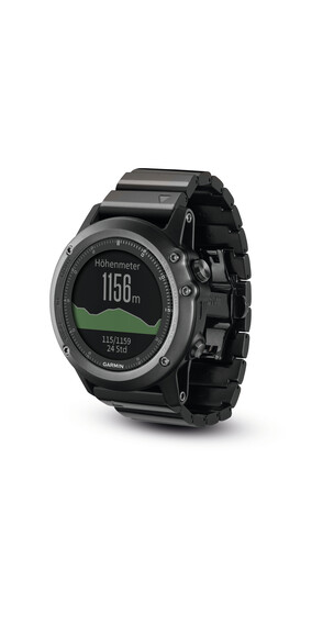 Garmin Garmin Fenix 3 GPS Wearable Performer bundle sapphire glas grey/black